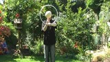 Summer time contact juggling and hoop