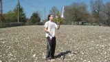 Mr Dim juggling in country