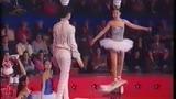 duo bowl kicking on rola bola - Cirque de Demain 1995
