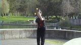 Dan Holzman, tennis balls & can